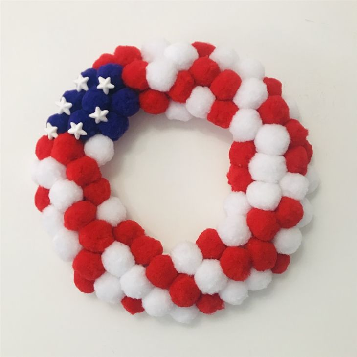 Lorenda exclusive new American Flag style decorations making supplies pink christmas wreath with pentagram