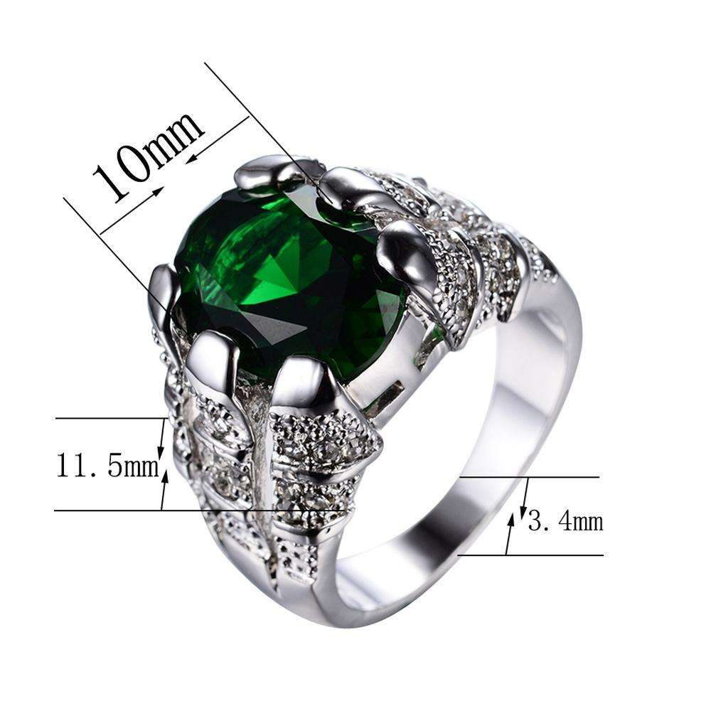 Fashion men diamond rings wedding jewelry 5a zircon ring wholesale cool 10k white gold rings