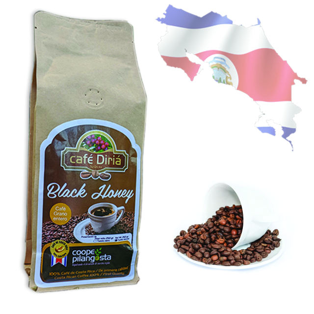 Special Cafe Diria Black Honey Roasted Whole Coffee Beans - 100% Pure Arabica Coffee Beans - Directly from Costa Rica