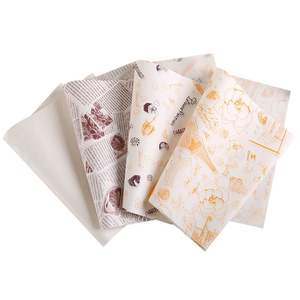 Customized Brown kraft food wrap greaseproof paper made in china