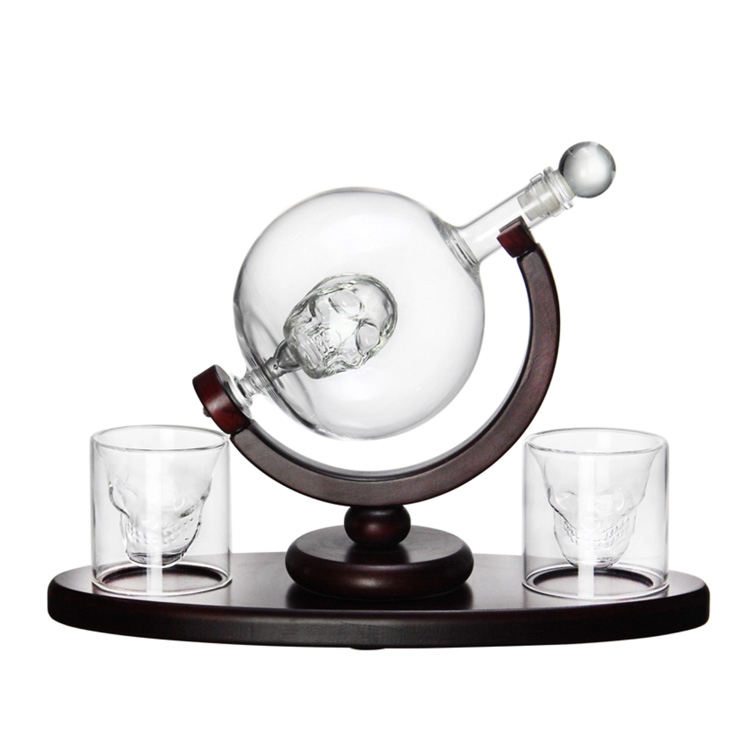Wholesale Globe Glass Decanter Wine Bottle