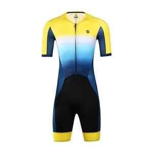 New style men short sleeve triathlon clothing men custom trisuit triathlon bike suit