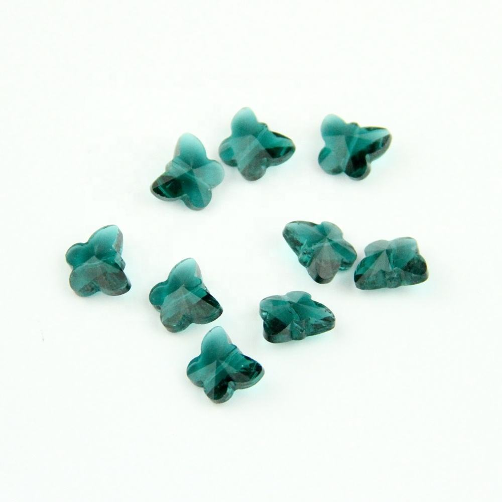 Wholesales 50pcs/lot 14mm Malachite green Butterfly lampwork beads For Jewelry Making Crystal Glass/doorways