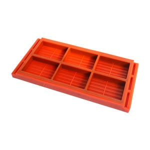 Polyurethane PU screen sieve panel plate mesh with grid holes