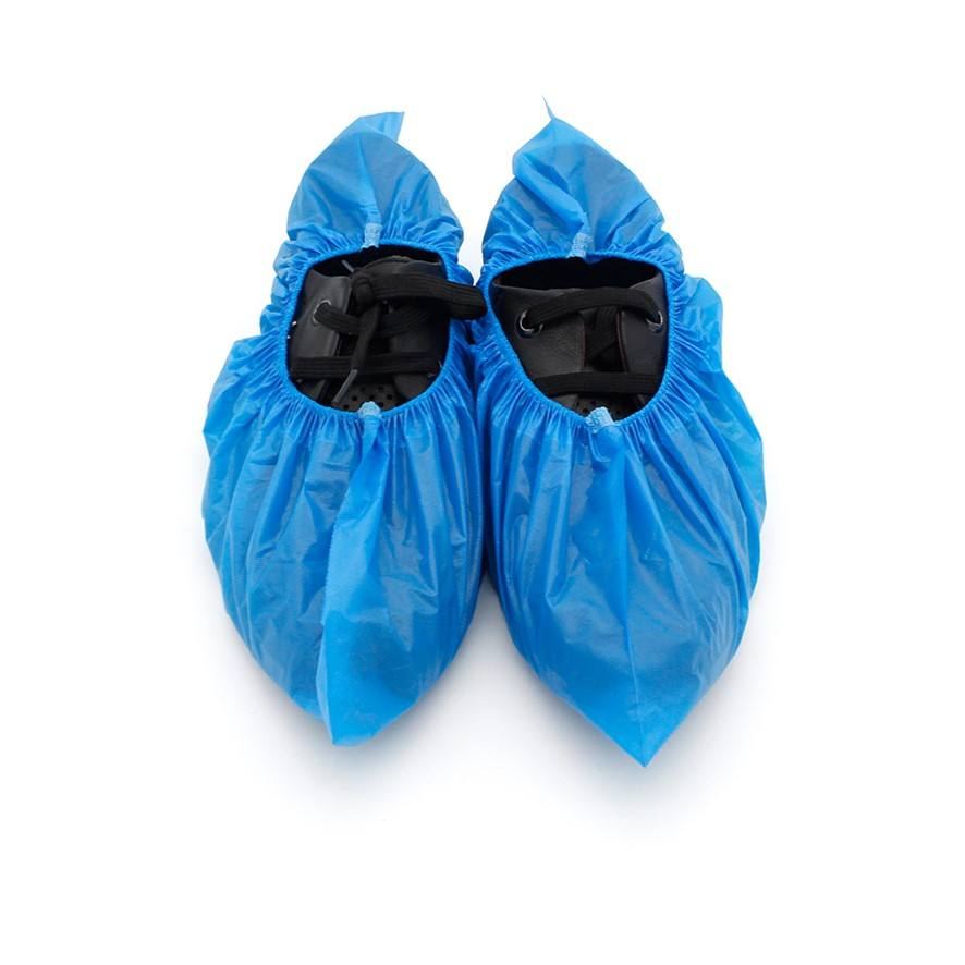 Cheap Custom disposable CPE shoe covers ,disposable computer room laboratory shoe covers