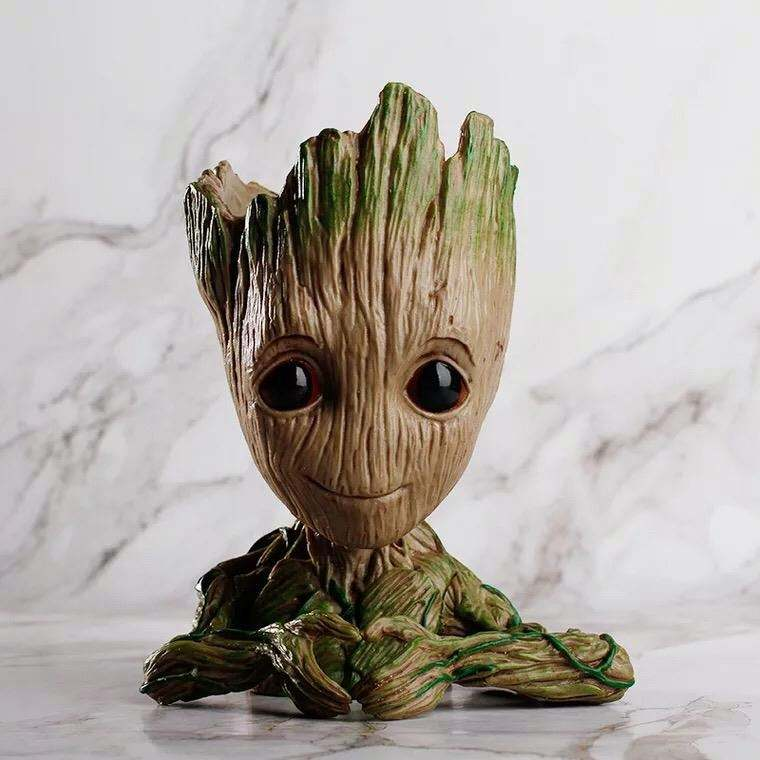 Cute Galaxy Flowerpot Baby Groot Action Figures Best Christmas Gifts for Kids