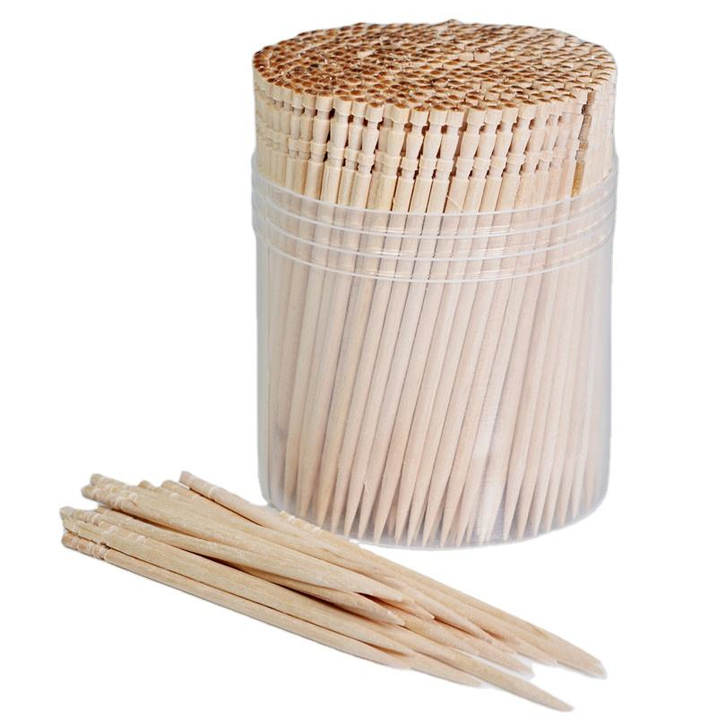 Personalized disposable carved individual packing birch wooden toothpick