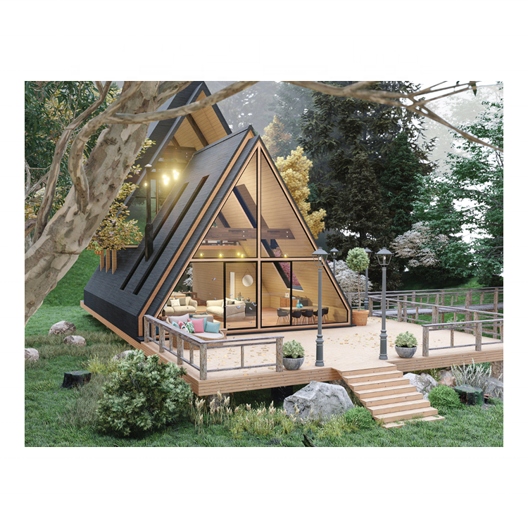 TM15 A Frame Triangle Roof Modular Homes Cabin Prefabricated House