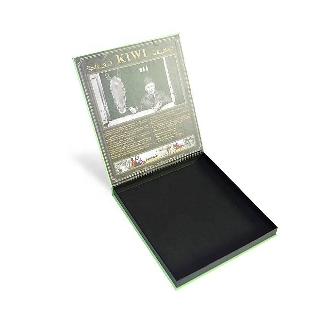 Rigid cardboard paper CD DVD packaging box with magnetic
