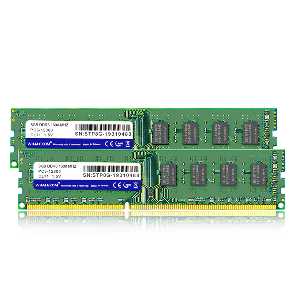 WHALEKOM STP8G 1600 Factory Price 240Pin CL11 1.5V DDR3 8Gb 1600Mhz RAM