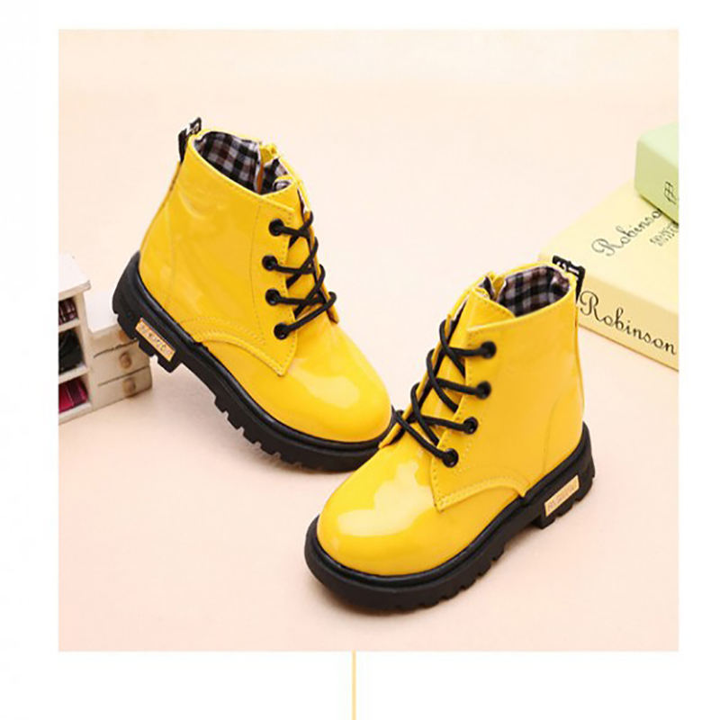 New Designer Spring Autumn Winter Boots Easy-on Handle Rubber Children Rain Snow Boot Boy Girl