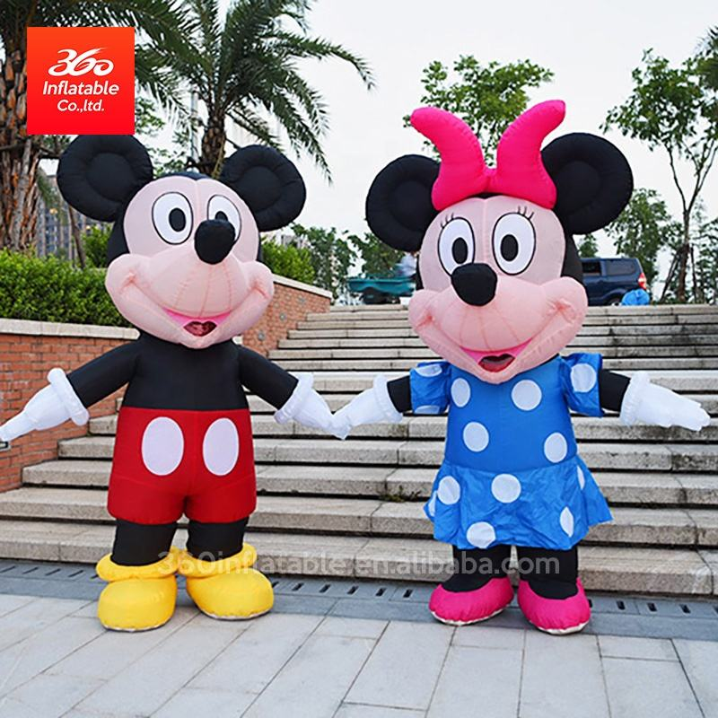 OEM Famous giant advertising Inflatable cartoon movie character colorful Mini Mouse Mascot for Advertising and Promotions
