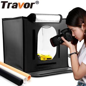 Travor hot selling F40 easy 40*40cm 3200k/5500k light softbox shooting tent 15w folding box-light led mini studio photo soft box