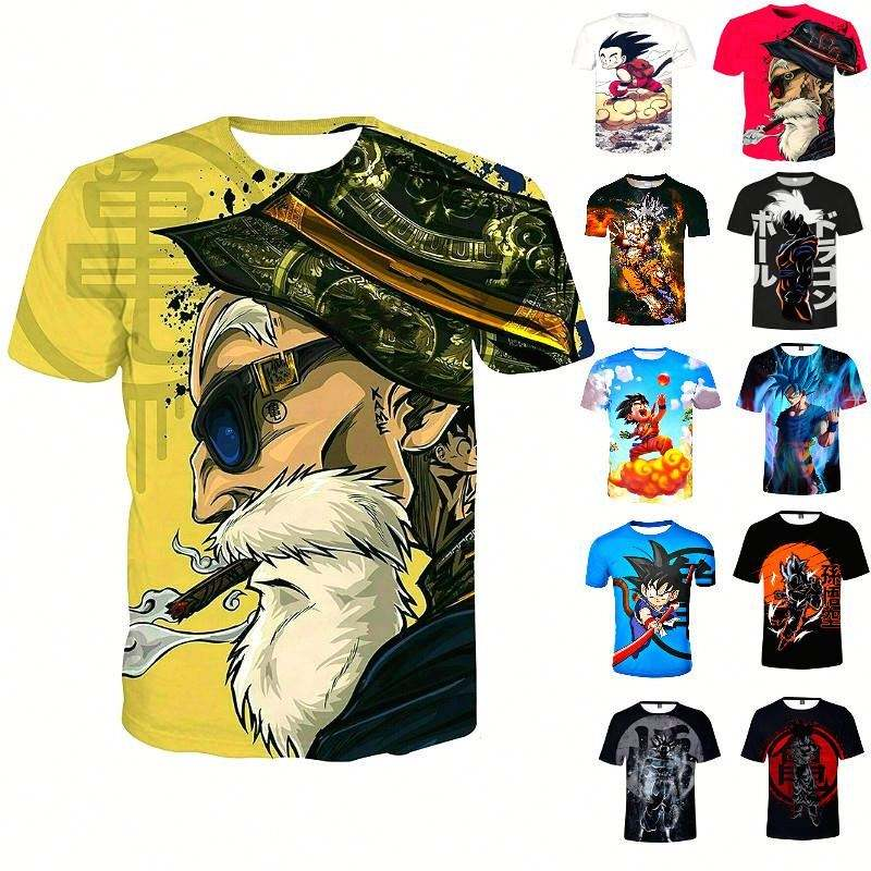 Japanese Tee DragonBall goku T-shirt Anime 3D Printed Cartoon Fashion Mens Womens Boys Goku Vegeta Polyester 3D T-shirts