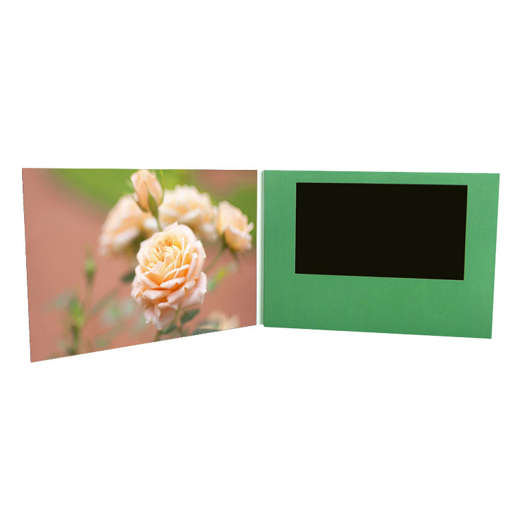 Customized 7 Inch Hard Cover Greeting Card Memory Cards Video Brochure Player