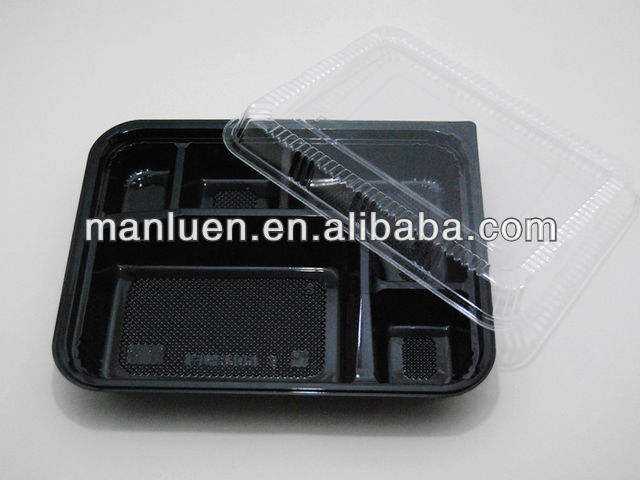 Wholesale Disposable Plastic Take Away Bento Lunch Box with Lid