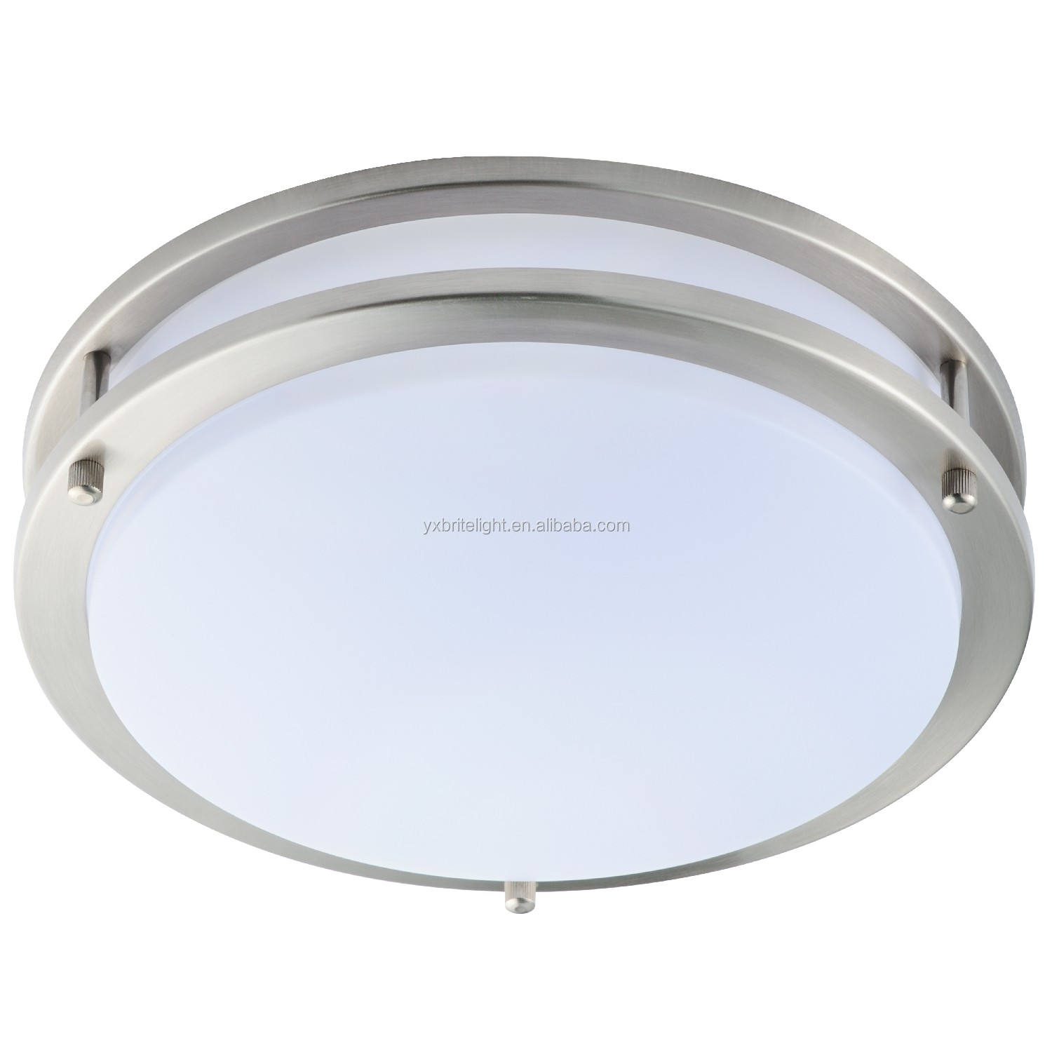 white brushed nickel aluminum light housing acrylic chandelier bedroom ceiling lamp