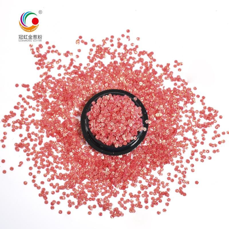 GH5200D Factory Wholesale Bulk Red Round High Flash Glitter Powder For Nail Decoration DIY Glitter