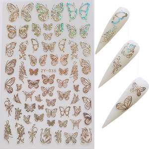 Popular Special Pattern Nail Stickers Custom Nail Wraps 3d Art Butterfly Designers Nail Stickers