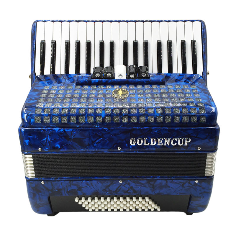 JH2011 gold cup 34 key 60BS keyboard accordion , accordions
