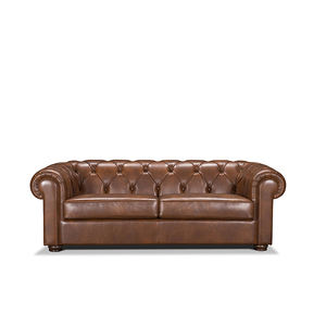 customized color and size leather chesterfield sofa set living room furniture