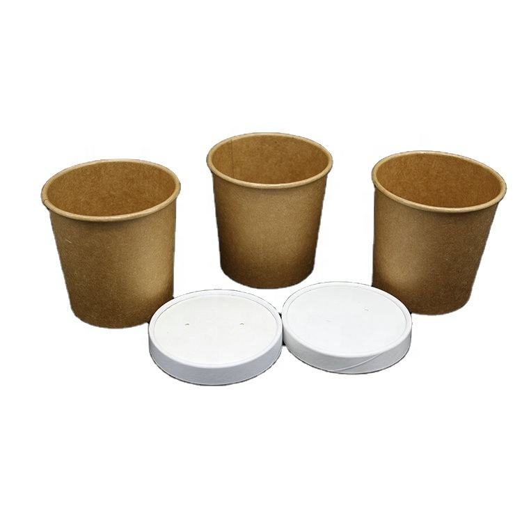 Easy Take Food Away Disposable Kraft Paper Hot Soup Cup