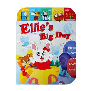 ELETREE Ellie's Big Day educational toy kids english speaking book high quality sound book printing children board book ELB-18K