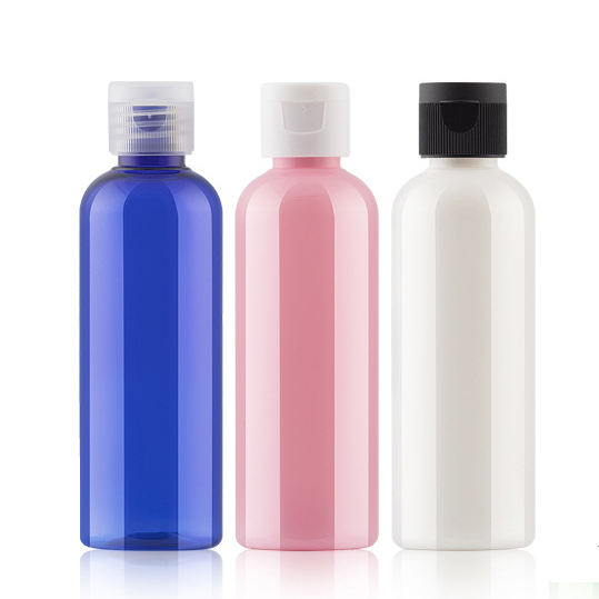 60ml 100ml Empty squeezable PET Bottles with Disc Top Flip Cap for Liquids Lotion Shampoo