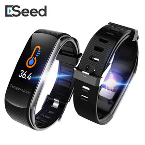 C6T Smart Bracelet Watches Body Temperature Wristband Waterproof Sleep Monitor Fitness Health Tracker Bluetooths Smartband