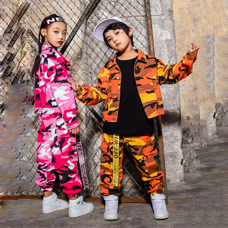 Hip Hop Dance Performance Costume Girls Jazz Dance Costumes For Kids