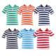 Kids clothing summer tops boutique boys shirts factory price kids t-shirts boy polo style collar shirt