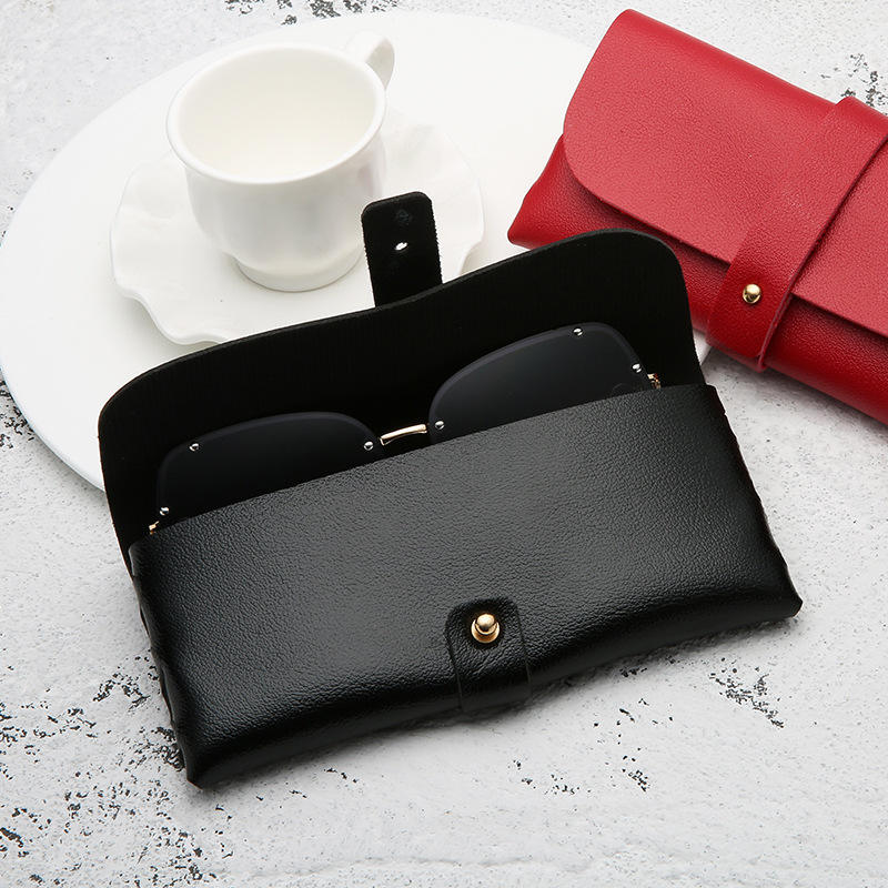 PU Leather Sunglasses Pouch Bag Eyeglasses Case Cover Solid Soft Glasses Holder Box Storage Portable Glasses Cover