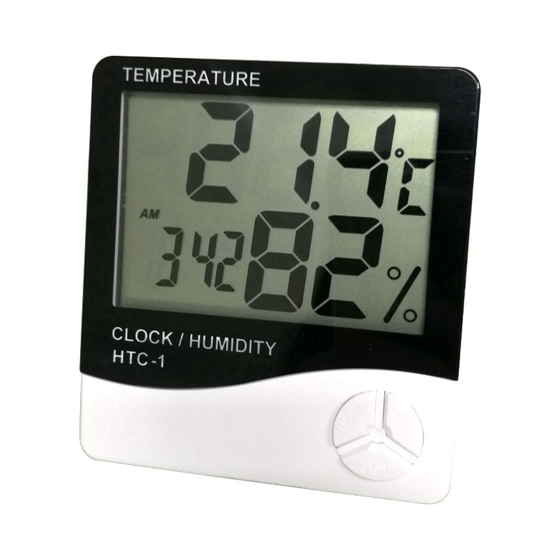 Large LCD temperature humidity display HTC-1