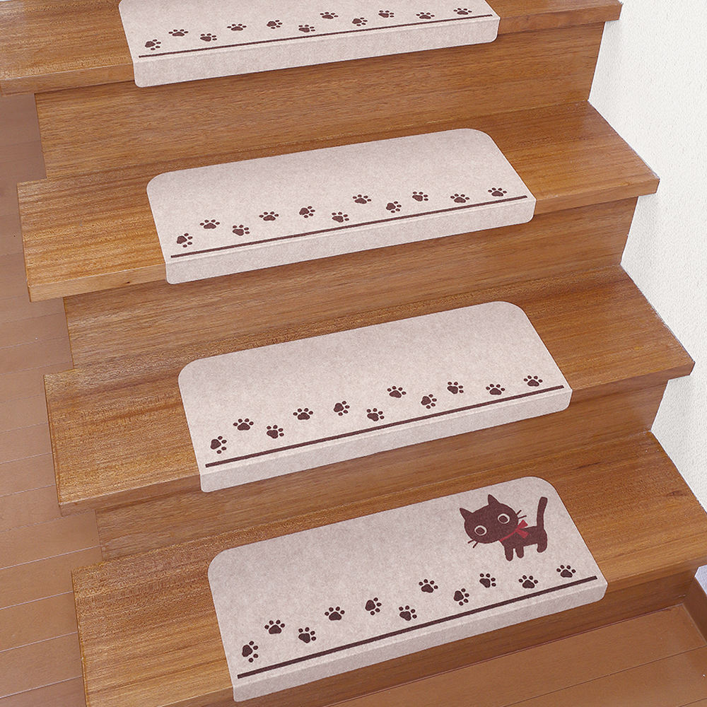 Adhesive backing floor covering cheap stair mat carpet with corner guard