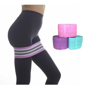 Cotton & Latex Squat Hip Band Adjustable Booty Band Exercise Bands for Hip Strength Training