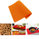 Small ball shape oil drain filter pad placemat for picnic grill, barbecue , silicone placemat