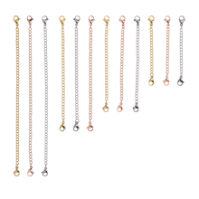 Stainless Steel silver Necklaces extender chain  gold necklace jewelry set  rose gold extenders