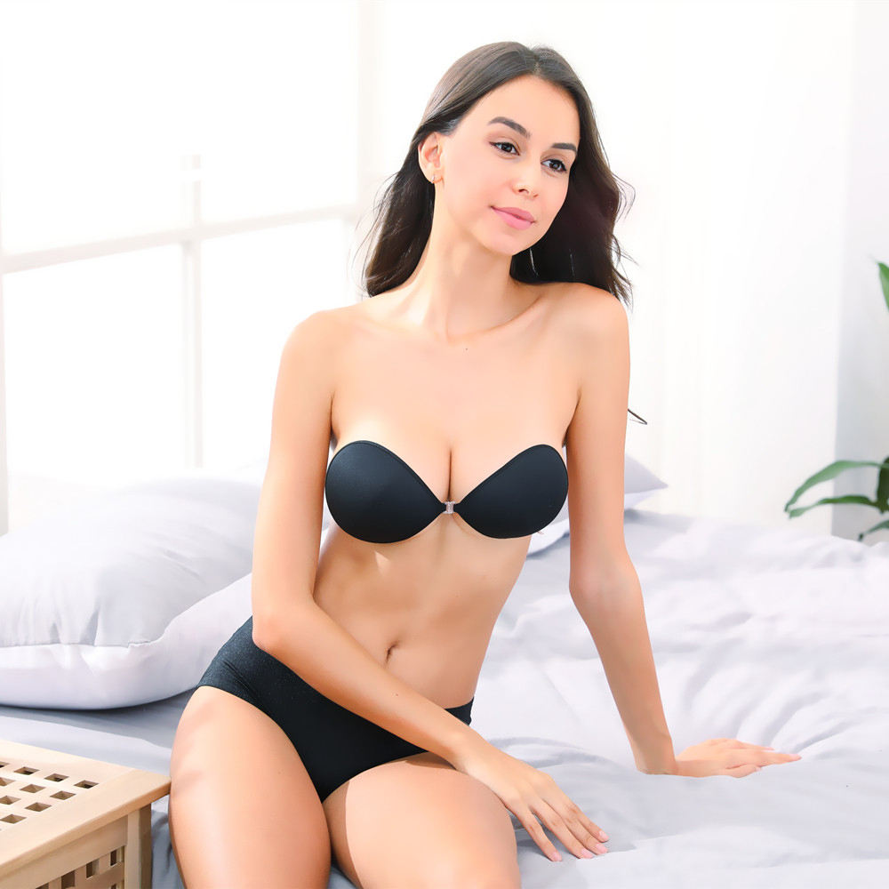 Hot selling sexy wireless invisible brassier backless strapless silicone skin bra