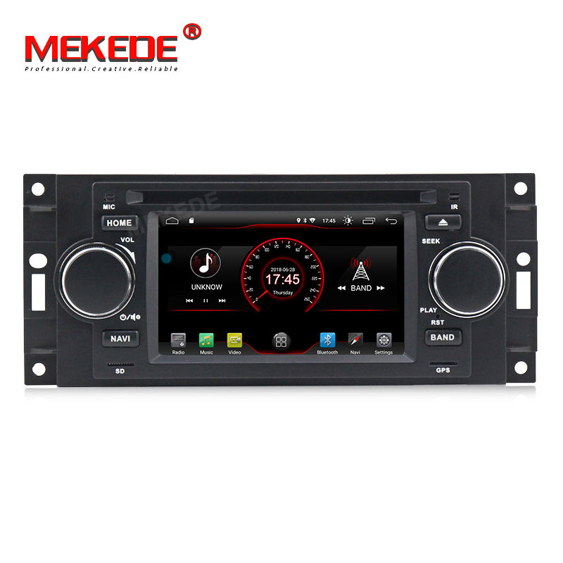 "5"" DSP 2+16G Android 9 Car DVD Player for Dodge Jeep Grand Cherokee Commander Wrangler Chrysler 300C PT Cruiser Sebring Caliber"