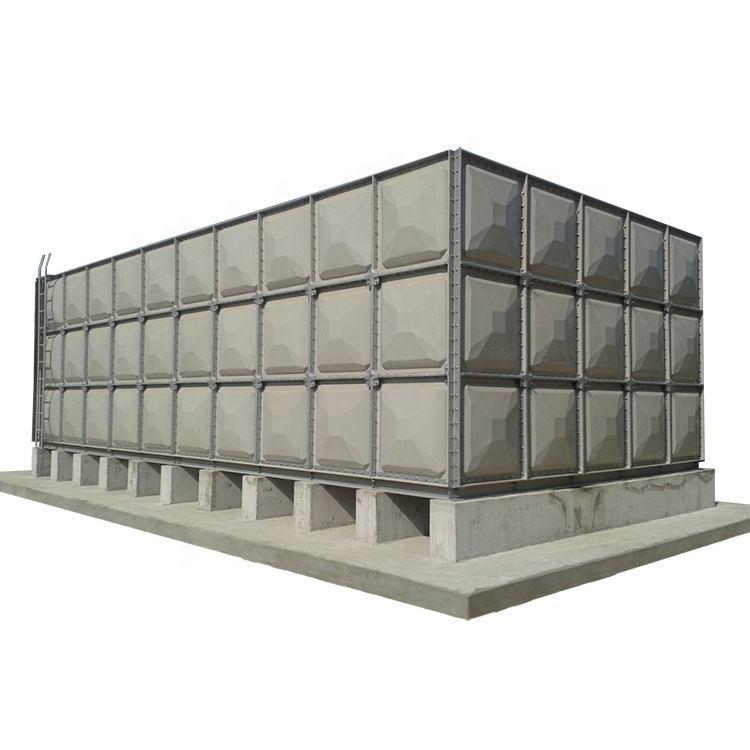GRP / FRP Sectional Square Water Storage Tank for Fire and Water Treatment