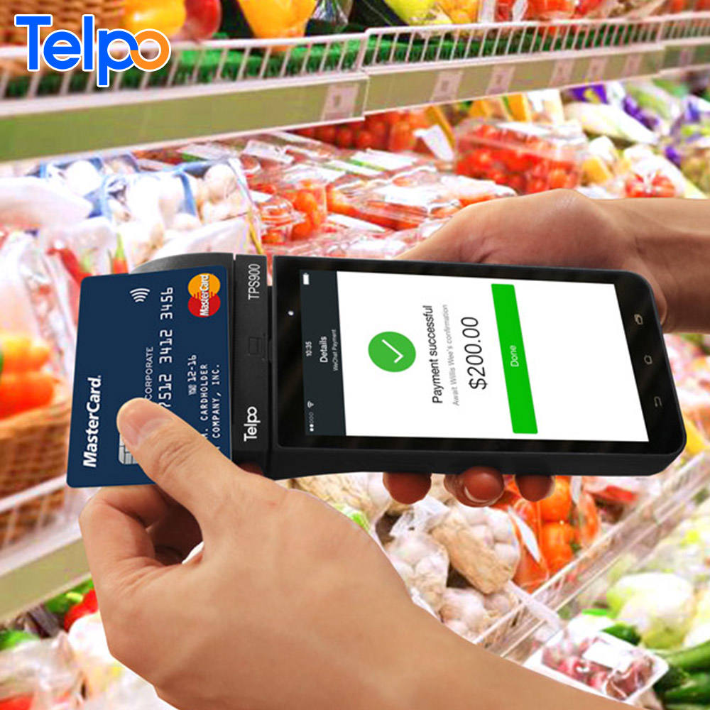 Global smart payment Telpo TPS900 4G Handheld Touch Screen Android Mobile POS terminal with Fingerprint/1D&2D QR code Scanner