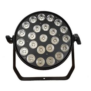 Super Bright Led Flat Par Can Stage Light 24x12w RGBWA + Purple 6in1 DMX Led Slim Par