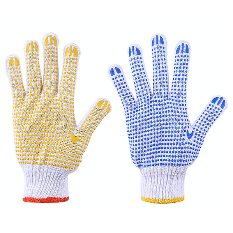 Wholesale Durable Plastic Points Cotton Working Dispensing Gloves