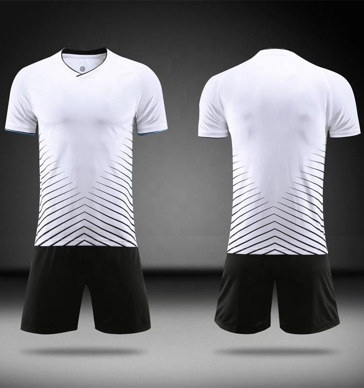 Blank White Soccer Kits Jersey Set Free Shipping Soccer Uniform