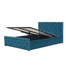 Hot Selling Cheap Price Headboard and footboard Buttons Tufted Velvet Fabric Storage King Bed