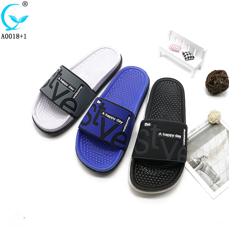 Summer beach rubber men slides footwear chappals slippers for male