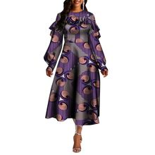 WY5656 Dashiki African Women Dresses O-neck Long Sleeve African Clothes for Women Clothes casual dresses