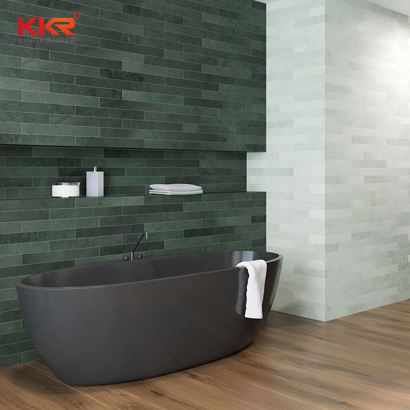 Custom Size Hotel Project Acrylic Resin Stone Solid Surface bathtub freestanding