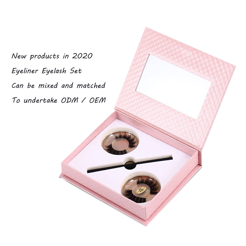Customized private label comfortable and soft self-adhesive 25mm eyeliner glue set