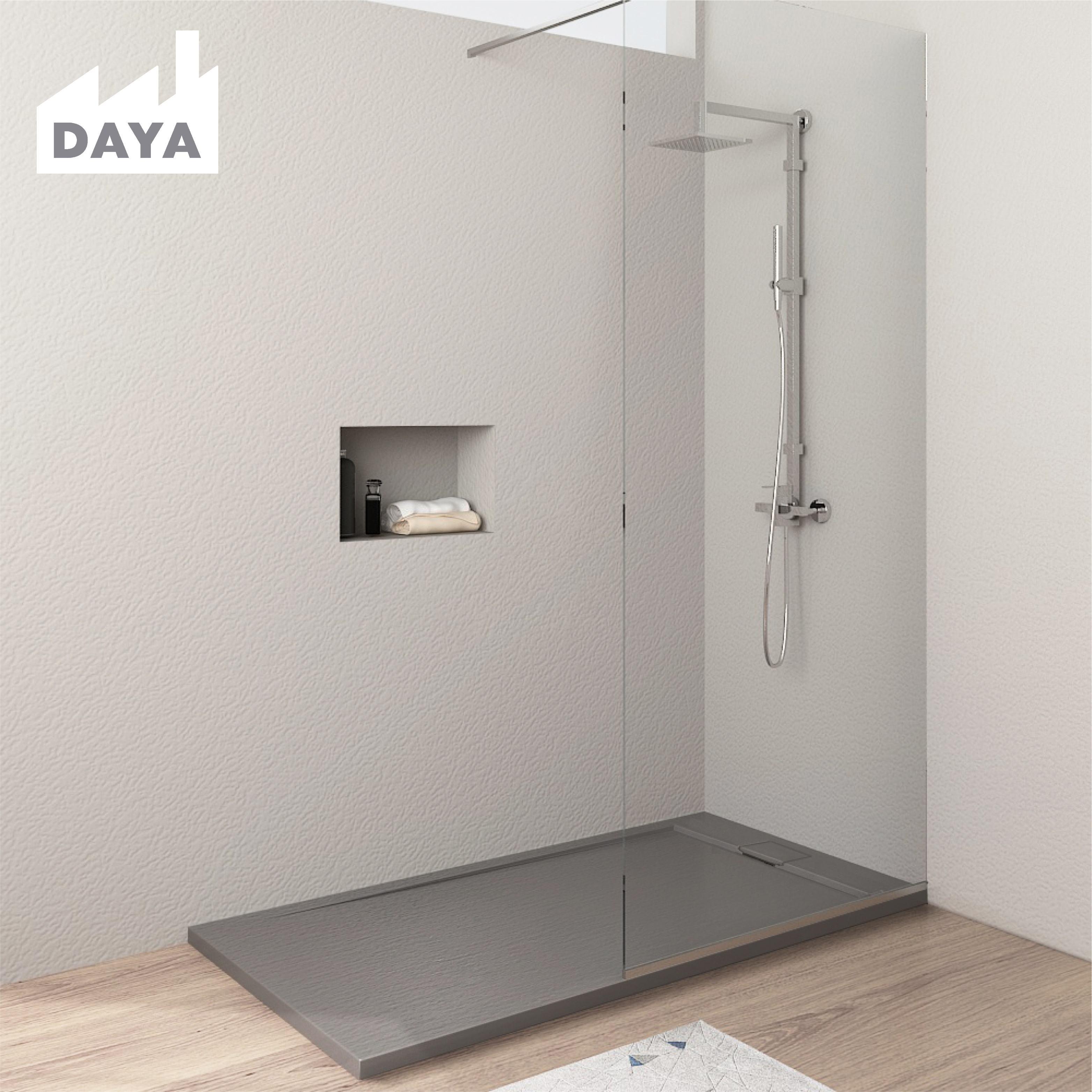 Stone resin shower base fiber wash basin